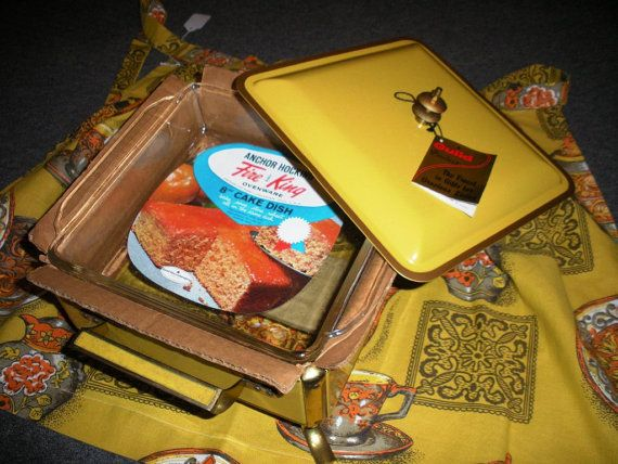 ~~Harvest Gold Anchor Hocking Fire-King Chafing Dish Buffet Warmer~~