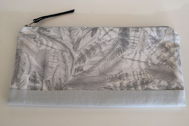 Liberty of london, linen fabric clutch bag, handbag. Hand made in New Zealand. Available to buy from etsy.com