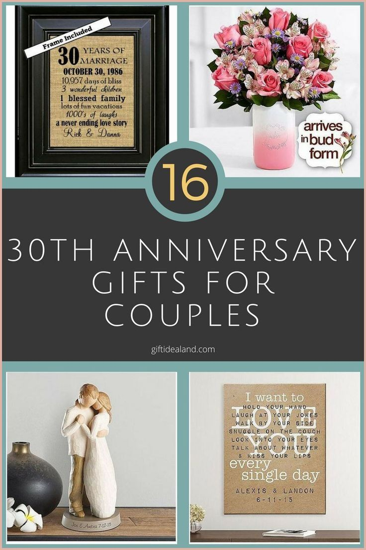 Accomplished 30th Wedding Anniversary Gift Ideas Of 2020