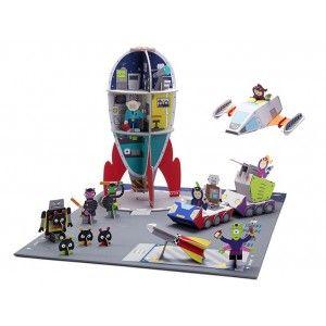 Galactic Police 738 - Space Station Bu eşsiz #eko #karton #oyuncak setinde çocuklar, geniş ve büyük olan uzay roketiyle yeni uzay yolculuğu ve keşiflerine çıkacak, üç katlı Uzay Roketinin içerisindeki asansörle katlar arasında kolaylıkla irtibatı sağlayacaklardır.