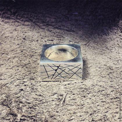 Кольца ручной работы. Заказать кольцо из серебра. Авторское кольцо. Необычное кольцо. BigJoe. Ярмарка Мастеров. Линии, серебро 925 пробы
