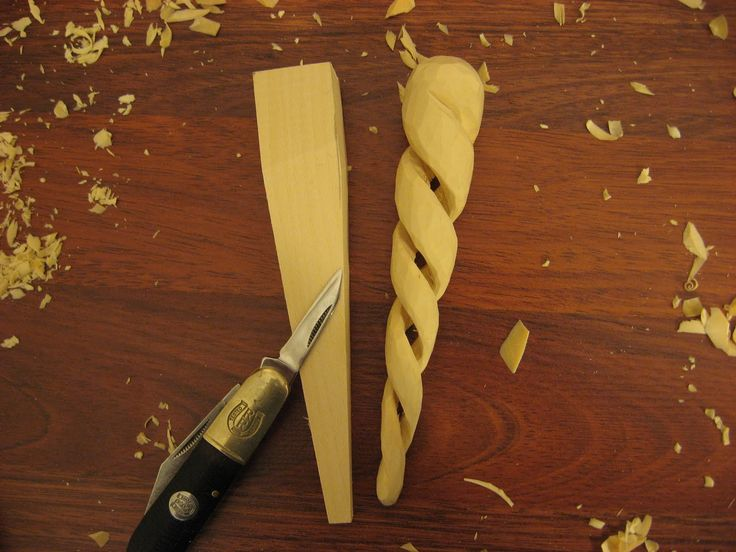 carving a spiral | carverswoodshop: SPIRAL ICICLE ORNAMENT our woodcarving club project