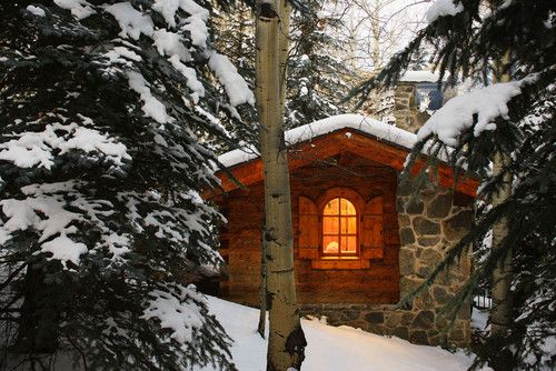 European-style ski hut for a custom home in Vail, CO. Pierce + Frye Architects.