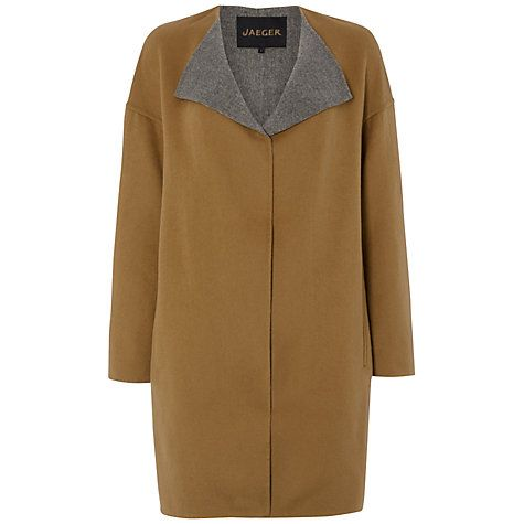 Buy Jaeger Double Faced Cocoon Coat, Camel Online at johnlewis.com