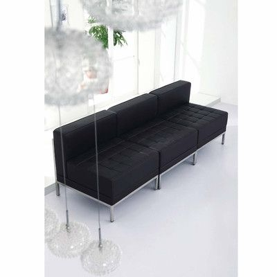 Sofa Tables Flash Furniture HERCULES Imagination Series Black Leather Ottoman