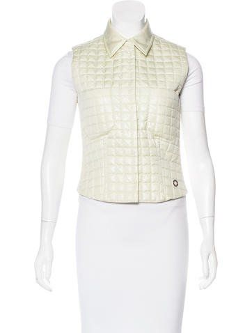 Chanel Quilted Metallic Vest