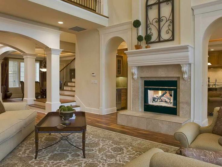 17 best images about home on pinterest mosaics mantels for Double sided fireplace design