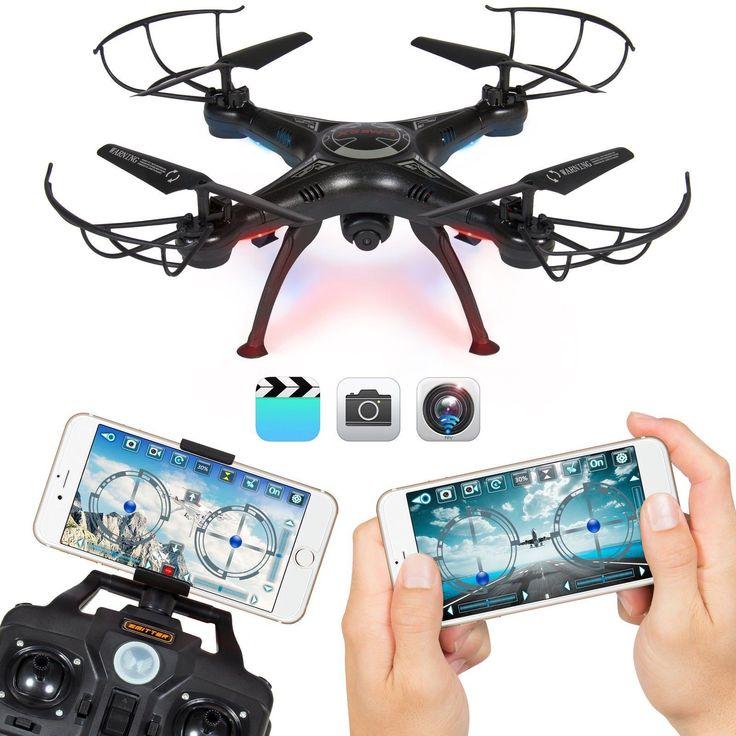 Hola de nuevo aquí os traigo un Dron con mando a distancia y conexión Wifi con el teléfono. También puede ir hasta 100 metros que es la distancia que permite