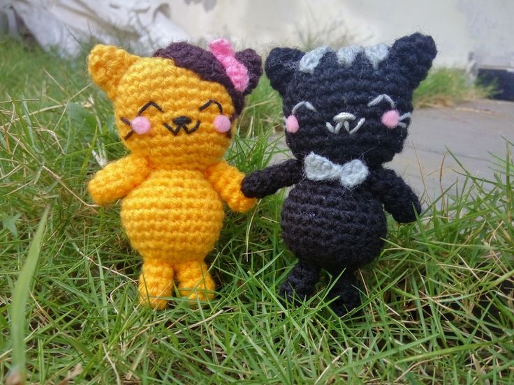 Free Pattern/ Pola Gratis Amigururmi Couple Kucing 1