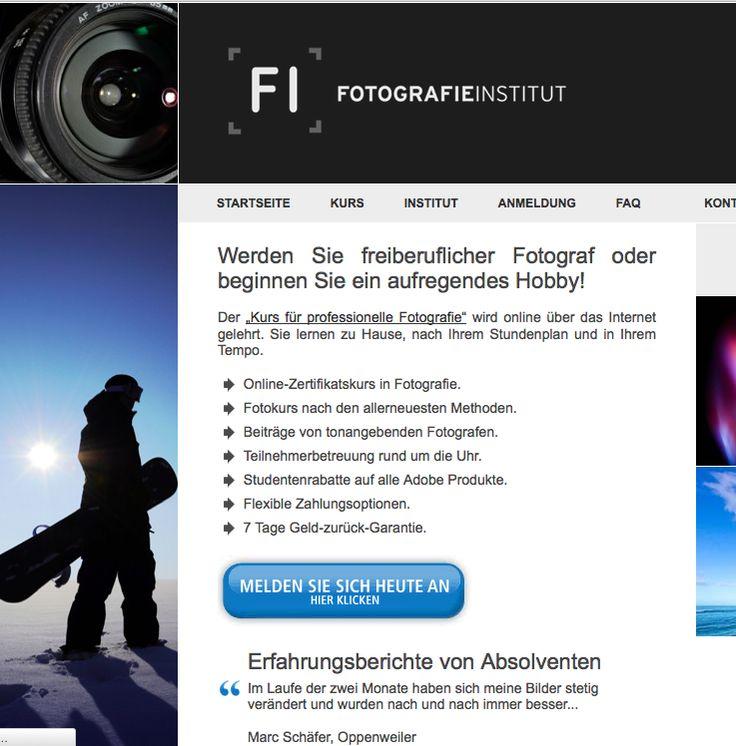 """Werden Sie freiberuflicher Fotograf oder beginnen Sie ein aufregendes Hobby! Der """"Kurs für professionelle Fotografie"""" wird online über das Internet gelehrt. Sie lernen zu Hause, nach Ihrem Stundenplan und in Ihrem Tempo."""