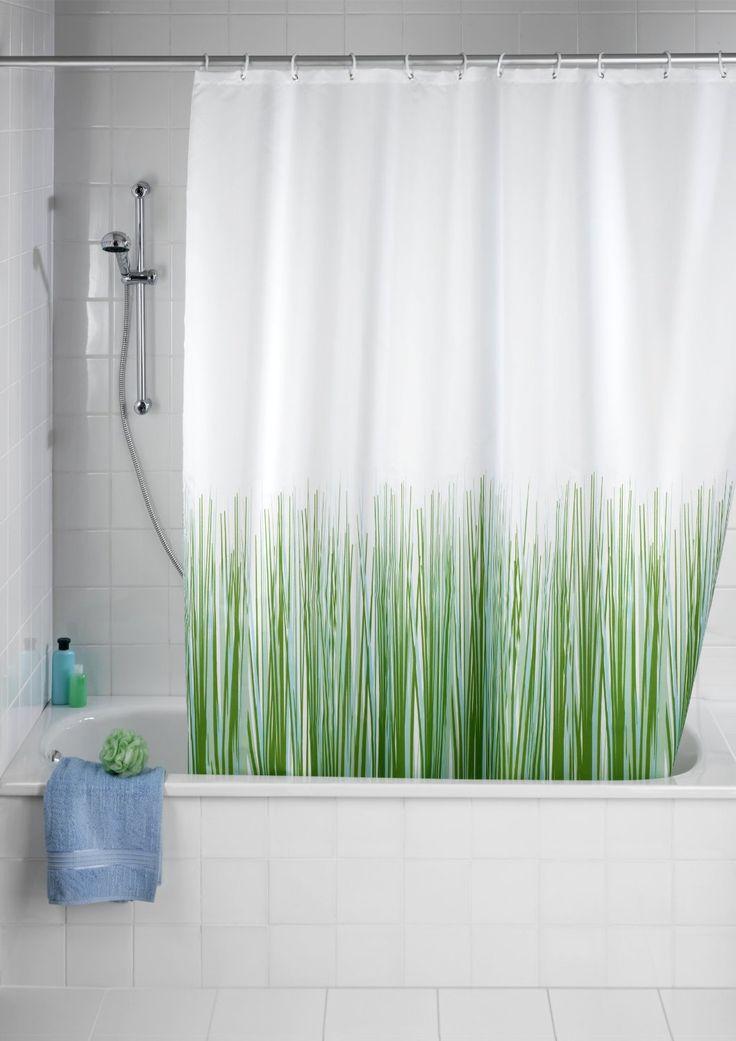 Wenko 20060100 Anti-Schimmel Duschvorhang Nature - Anti-Bakteriell, waschbar, mit 12 Duschvorhangringen, Kunststoff - Polyester, cm, Weiß: Amazon.de: Küche & Haushalt