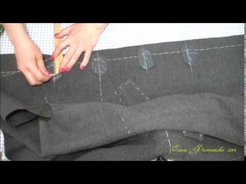 Как изготовить обтачные петли в женском пальто.