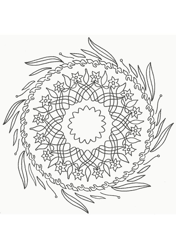 17 best images about coloriages mandala on pinterest coloring belle and nature - Coloriage fleur tres jolie ...