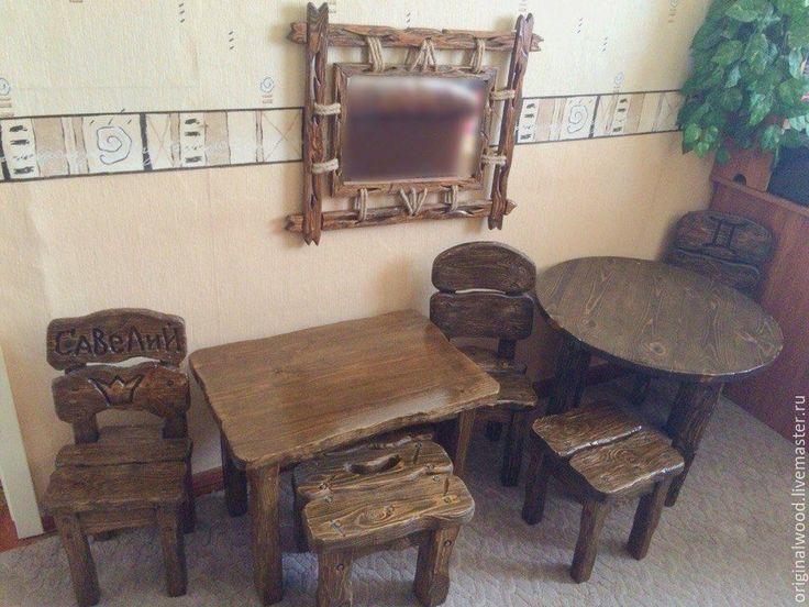 Купить Мебель детская - коричневый, детская, мебель ручной работы, состаренный стиль, дачный интерьер