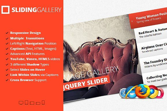 jQuery Sliding Image Gallery by flashblue on @Graphicsauthor