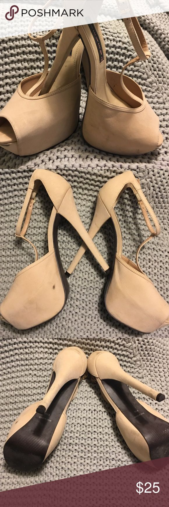 Steven by Steve Madden High Heels Extremely high heels. It has normal wear and tear but it's in good condition. Six inch heels Steven by Steve Madden Shoes Heels