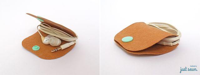 just sewn.: Blitztutorial - Headphone Keeper aus SnapPap