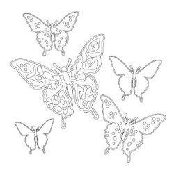 Vlinder kleurplaat afdrukbare, Pastiche Family Portal