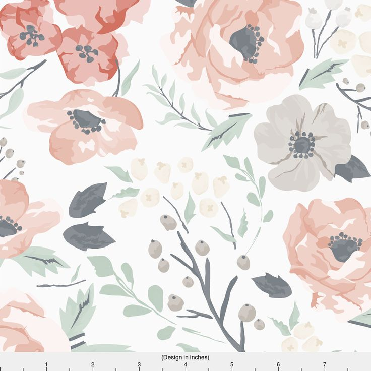 62 best nursery range images on pinterest child room for Floral nursery fabric