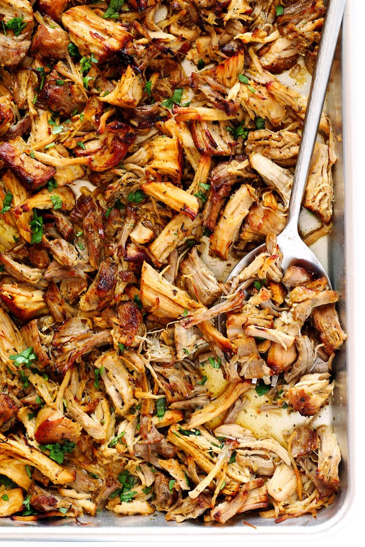 These Instant Pot Crispy Carnitas are quick and easy to make, and cooked with the most delicious Cuban mojo sauce marinade! | gimmesomeoven.com