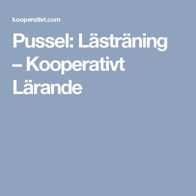 Pussel: Lästräning – Kooperativt Lärande