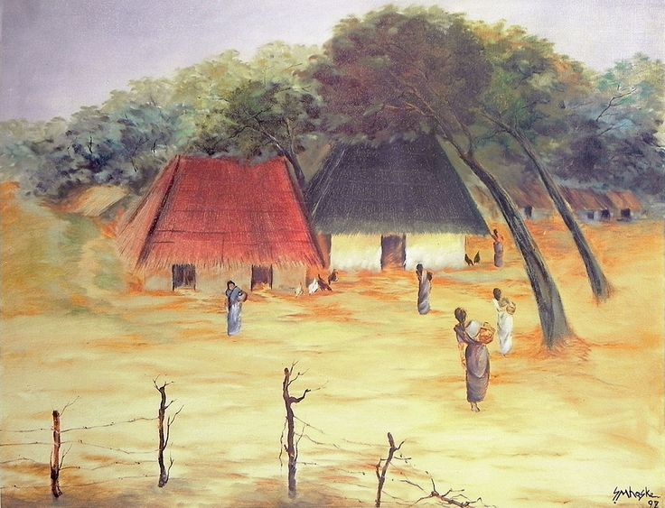 Beautiful Village Poster (Reprint on Paper - Unframed)