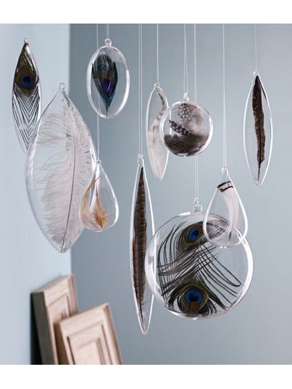 feathers/glass/hanging. How can you go wrong?