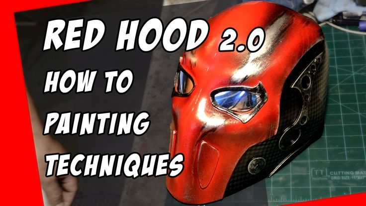How To Do it Yourself Red Hood Helmet for Cosplay costume