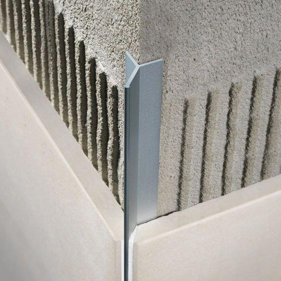 Aluminum edge trim / for tiles / outside corner FILOJOLLY RJF PROFILITEC