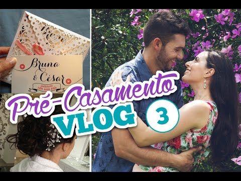 #vlog 3 Pré-Casamento: Convite, buquê de noiva, teste de cabelo e make-up, adereços de festa... | Comprando Meu Apê