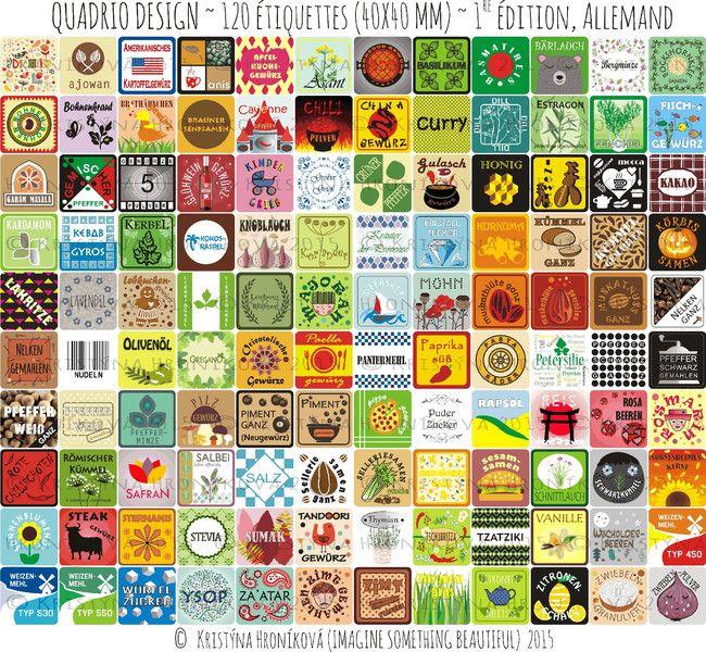 120 Original Gewürzetiketten von Spice Jar Label auf DaWanda.com