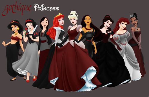 gothDisney Stuff, Goth Princesses, Dark Disney, Disneyprincess Fans, Dark Princesses, Gothic Disney, Fans Art, Goth Disney Princesses, Gothic Princesses