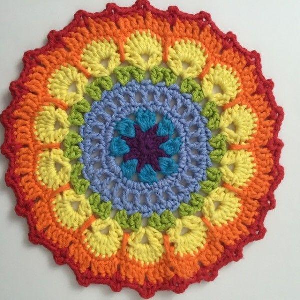 Arco-íris Crochet MandalasForMarinke de Kathleen