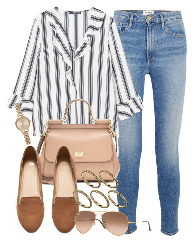 """Sin título #14573"" by vany-alvarado ❤ liked on Polyvore featuring Frame, MANGO, Dolce&Gabbana, H&M, Ray-Ban, ASOS and Olivia Burton"