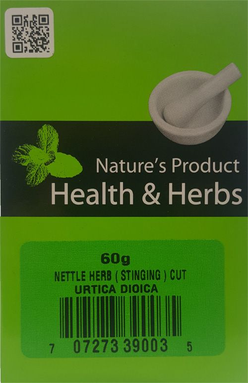Natures Product  Health & Herbs Netlle Herb (Stinging ) Cut 60g Urtica Dioica