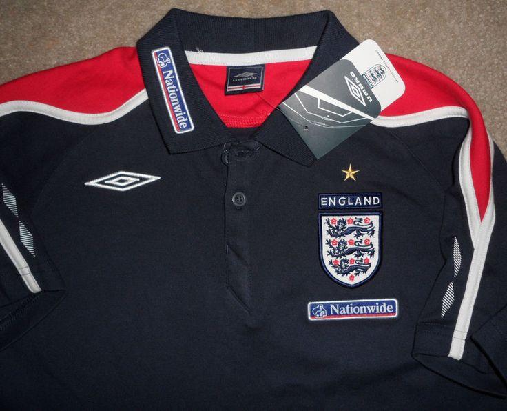 NEW NWT 2008 ENGLAND NATIONAL FOOTBALL TEAM UMBRO Futbol SOCCER Jersey Youth XL #Umbro #England