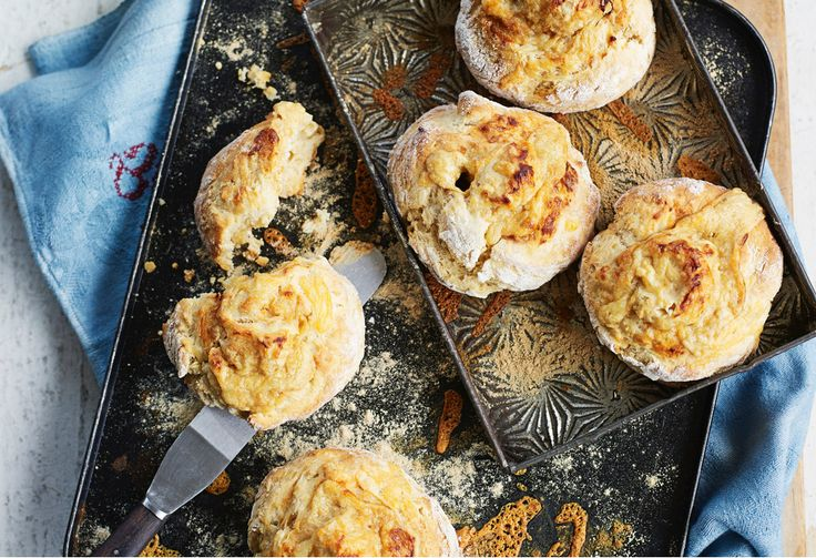 Vegemite gives a deep savoury flavour to these tasty pinwheel cheddar cheese scones - perfect for afternoon tea or a simple snack.