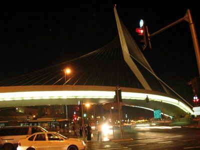 Jerusalem Calatrava Bridge at Night