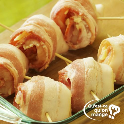 Roulés de bacon, poulet et fromage à la Plancha @qu-est-ce-qu-on-mange.com