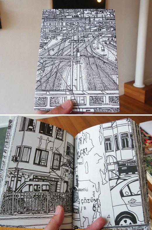 City drawings, a healthy sketchbook practice