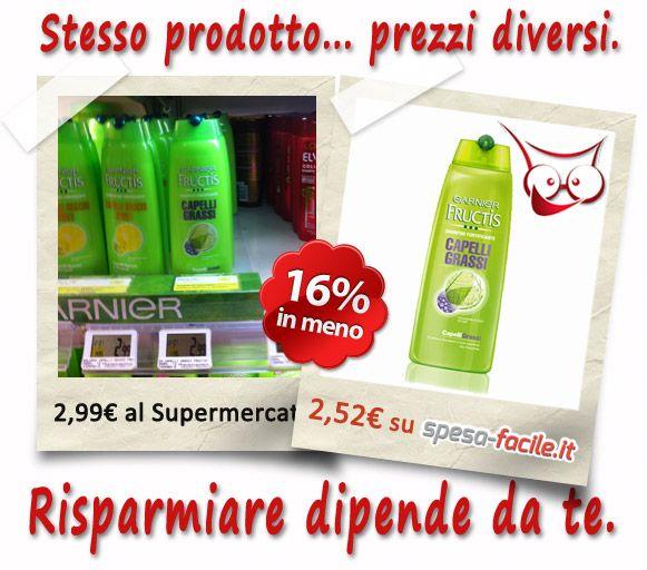 #Fructis #Shampoo Fortificante #Capelli Grassi a soli €2,52 invece di 2,99 del  #Supermercato. Risparmia acquistando su http://www.spesa-facile.it/cura-dei-capelli