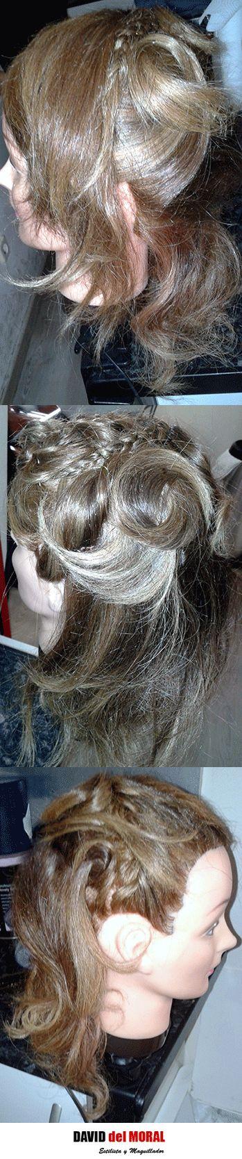 #semirecogido #trenzado #trenzas #rizado #ondas #tirabuzones #estilo #estilismo #femme #evento #ghd #hair #cabello #peinado #hairstyle
