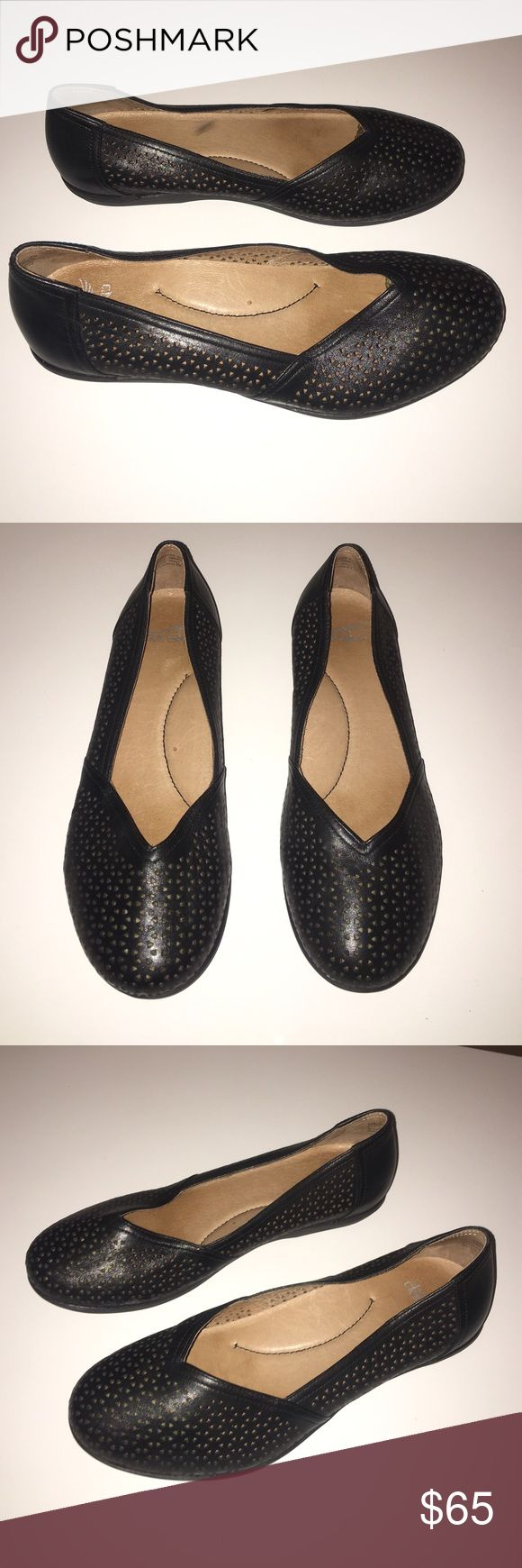 Dansko black leather flats small wedge sz 9 Excellent condition authentic Dansko black leather flats small wedge sz 9 Euro 39 but fit sz 9 very comfortable shoes Dansko Shoes Flats & Loafers