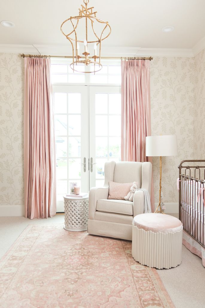 Islau0027s Nursery Reveal and giveawayu2026 Pink Curtains