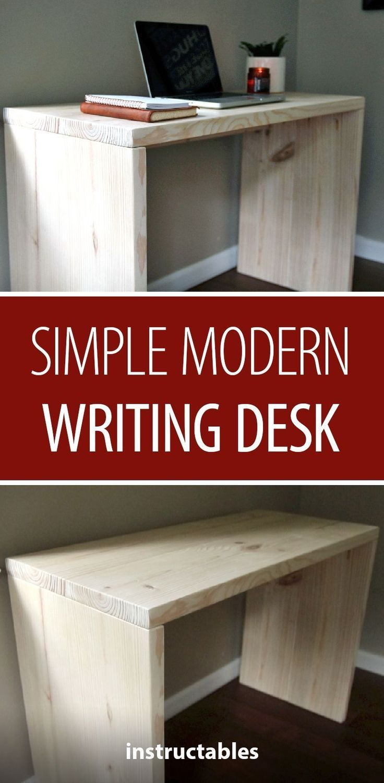 Scrivania Moderna Semplice Writing Desk Modern Diy Wood Desk Writing Desk Diy
