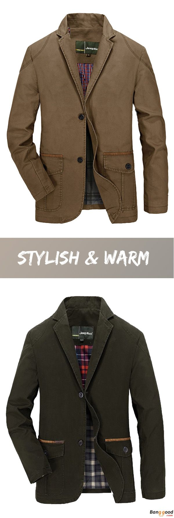 US$53.16 + Free Shipping. Men Jacket, Spring Jacket, Fall Jacket, Cotton Jacket, Blend Casual Jacket, Buttons Jacket, Coat Suit Outwear. US Size: S ~ 3XL. Color: Khaki, Olive. Stylish & Warm, Shop Now!