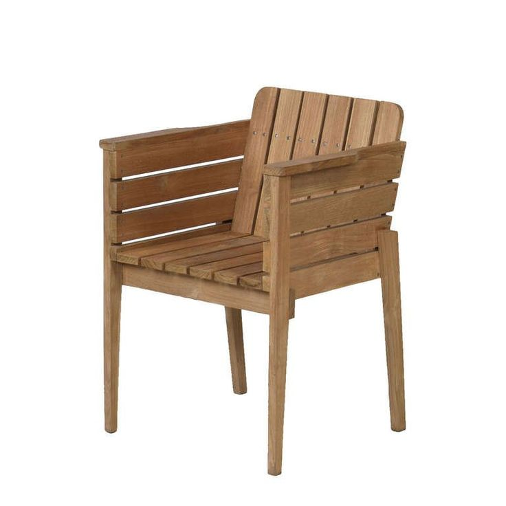 Outdoor Bucket Chair in Teak 1