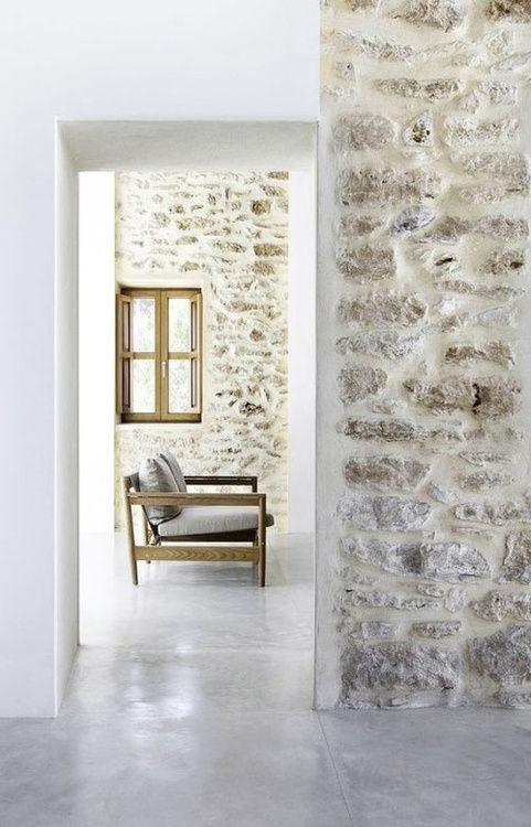 Plaster rock walls
