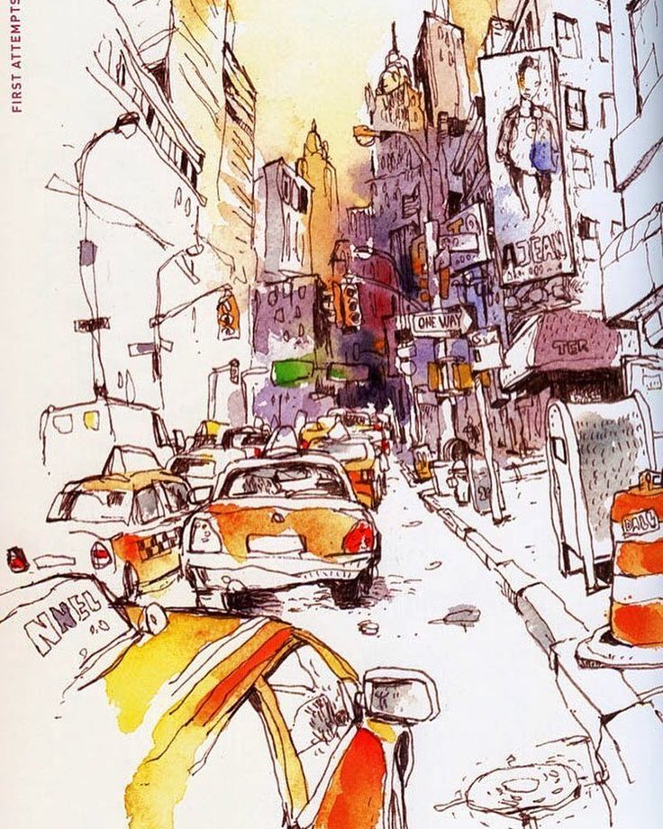 Urban watercolor Sketch by Felix Scheinberger Germany. Городской акварельный скетч Феликса Шайнбергера Германия.  #иллюстрация #живопись #искусство #графика #холст #арт #выставки #art #illustration #pencil #artsy #drawing #draw ##contemporaryart #urban #sketchbook #graphic #exhibitions #pen #timetoart