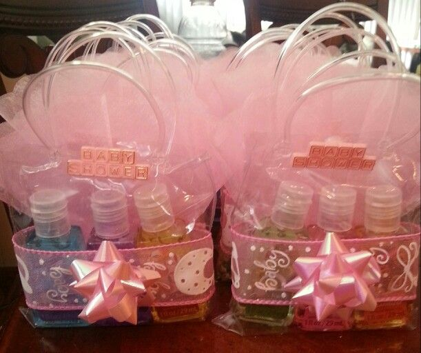 Baby Shower Hand Sanitizer Favor For Baby Girl.